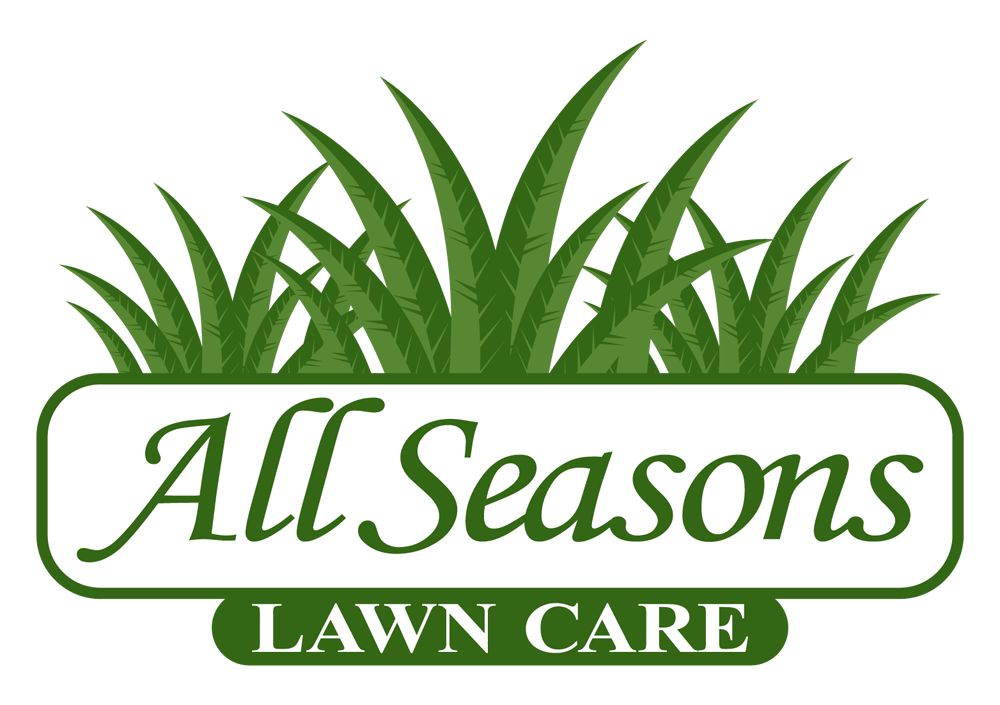 Employee forms all seasons lawn care for Garden maintenance logo